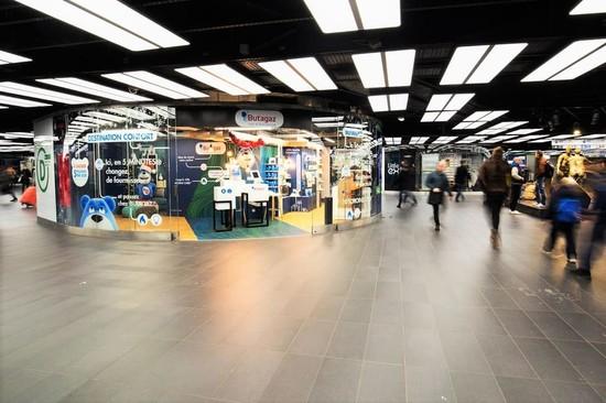 Espace éphémère dans un centre commercial