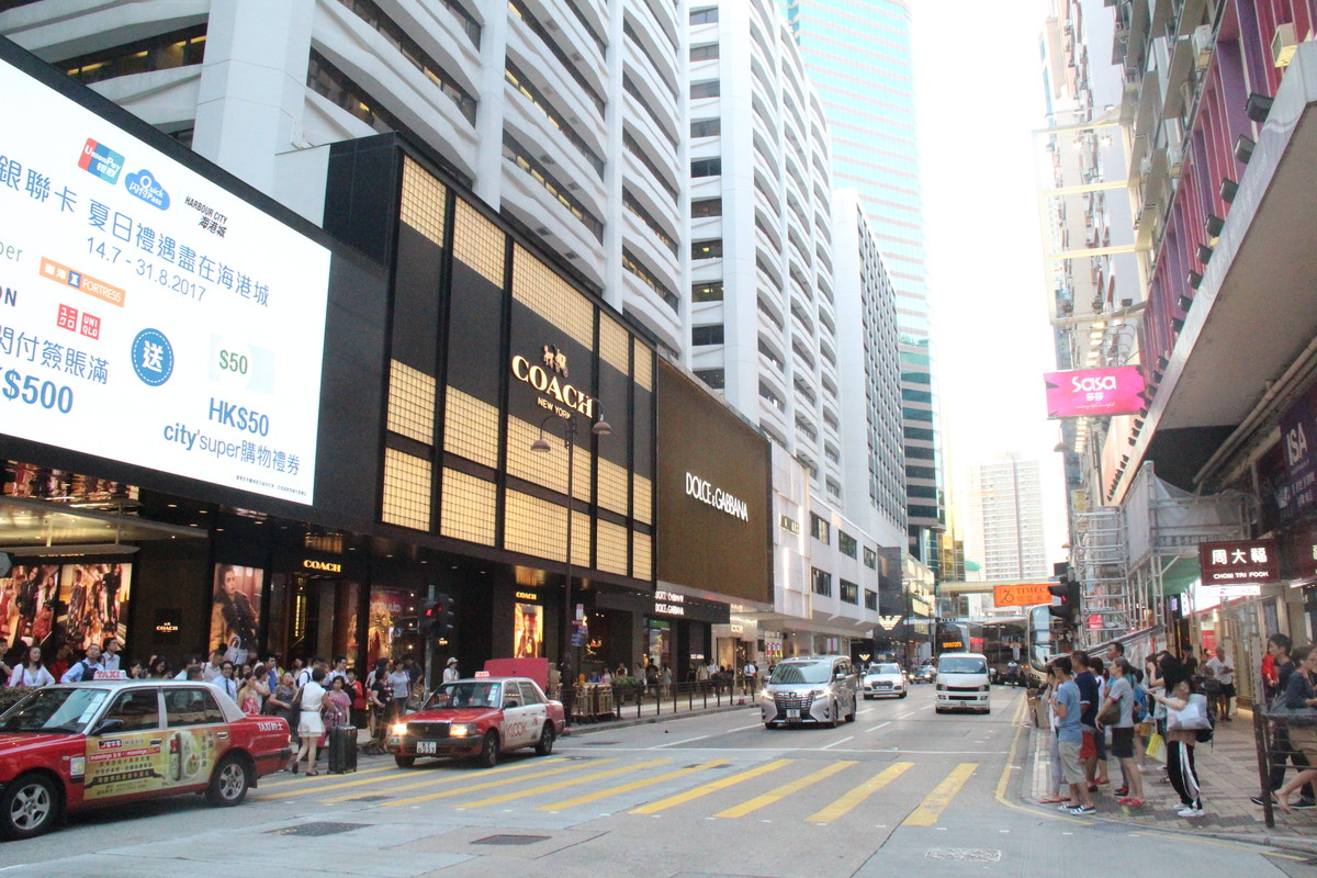 storefront guide retail space tsim sha tsui hong kong