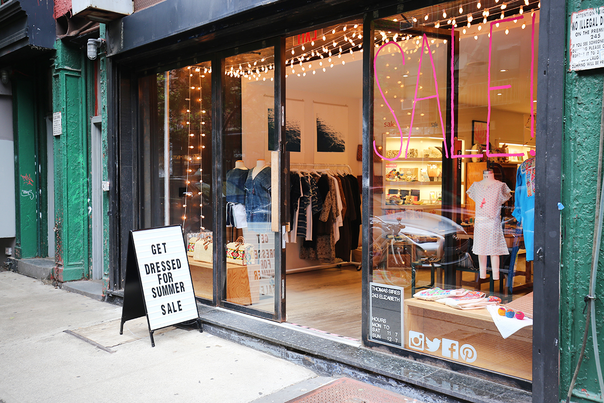 storefront guide pop-up store nolita new york