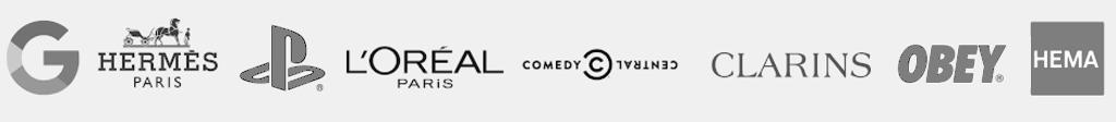 Logos des différentes marques ayant travaillé avec Storefront France